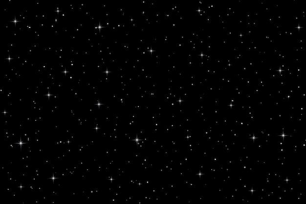 Fundo de espaço com estrelas. ilustração vetorial Vetor Premium