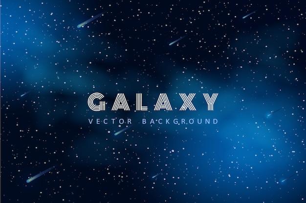 Fundo de espaço com forma abstrata e estrelas. Vetor Premium