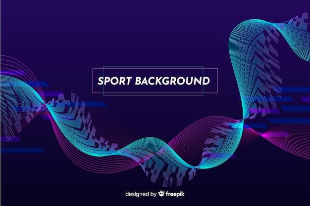 Fundo de esporte abstrato de onda azul Vetor grátis