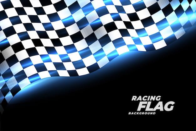 Fundo de esportes de bandeira quadriculada de corrida Vetor grátis