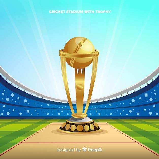 Fundo de estádio de críquete moderno Vetor grátis