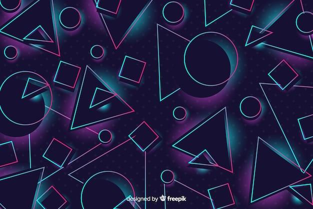 Fundo de estilo 80 com formas geométricas Vetor grátis