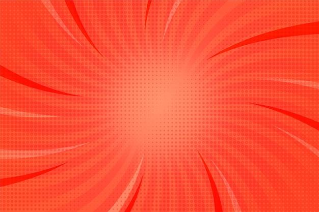 Fundo de estilo cômico de raios de sol abstratos Vetor grátis