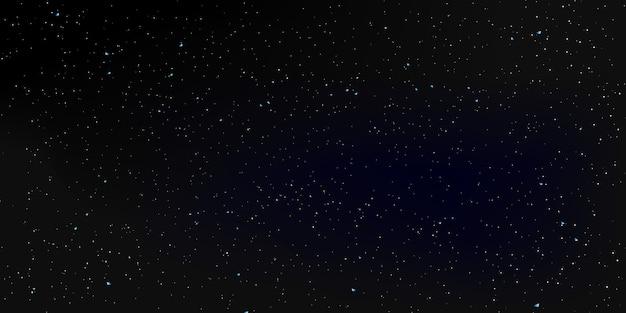 Fundo de estrelas do espaço. o céu noturno. Vetor Premium