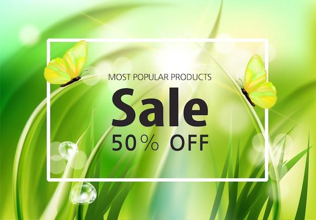 Fundo de evento de venda de primavera Vetor Premium