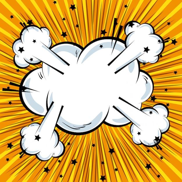 Fundo de explosão de quadrinhos desenhos animados texto pop art Vetor grátis