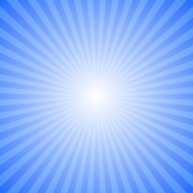 Fundo de explosão de raio abstrato azul - design gráfico de vetor de movimento a partir de raios listrados Vetor Premium