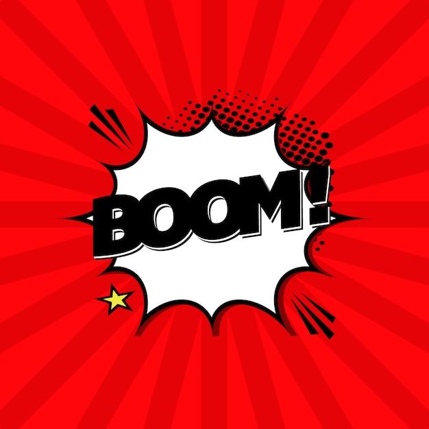 Fundo de expressão do boom Vetor grátis
