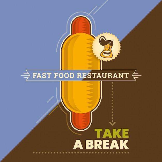Fundo de fast-food Vetor Premium