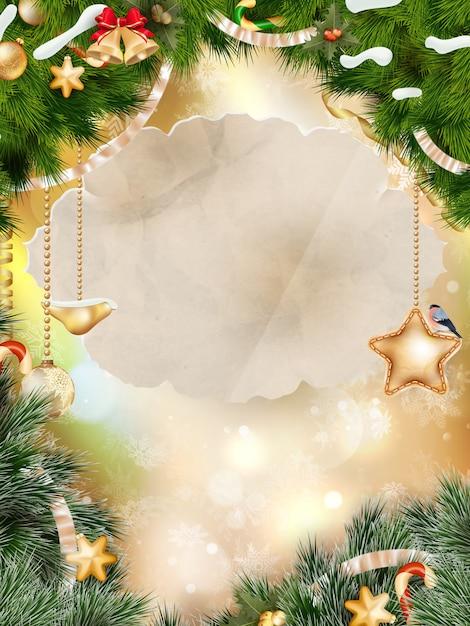 Fundo de feliz natal. Vetor Premium