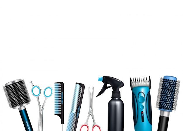 Fundo de ferramentas de cabeleireiro Vetor grátis