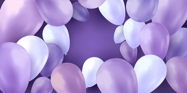 Fundo de festa de balões Vetor Premium