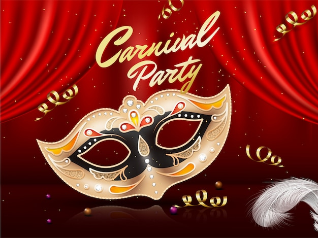 Fundo de festa de carnaval. Vetor Premium