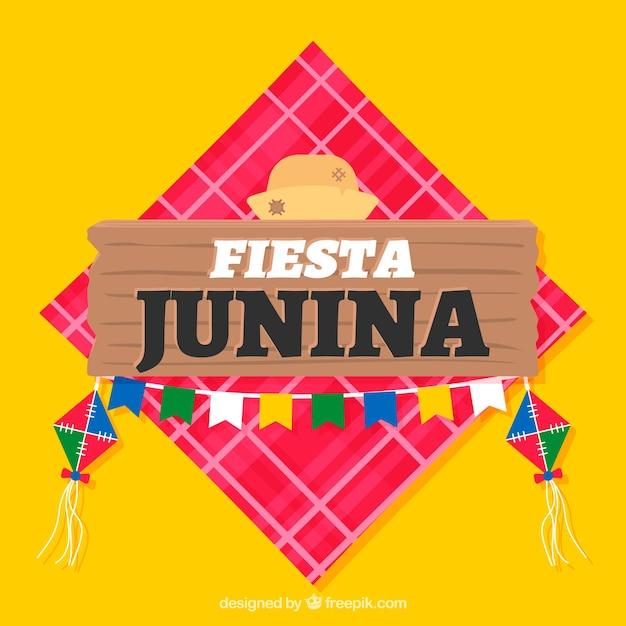 Fundo de festa junina em estilo simples Vetor grátis