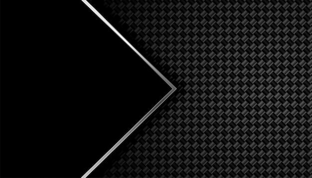 Fundo de fibra de carbono preto com espaço de texto Vetor grátis