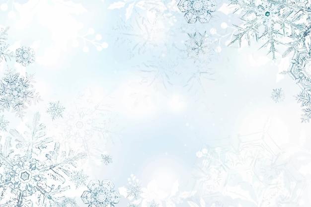 Fundo de floco de neve de inverno Vetor grátis