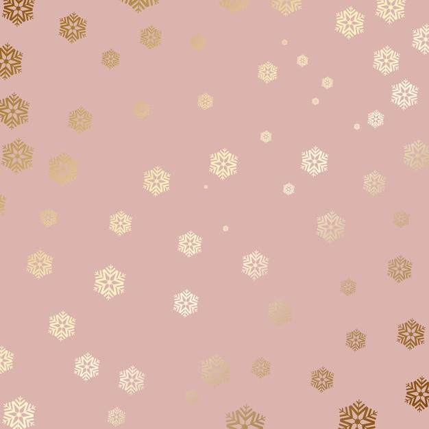 Fundo de floco de neve de ouro Vetor grátis
