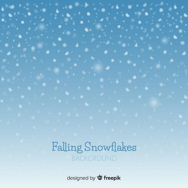 Fundo de flocos de neve caindo Vetor grátis