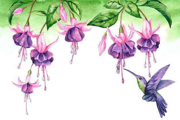 Fundo de flores tropicais para zoom Vetor grátis