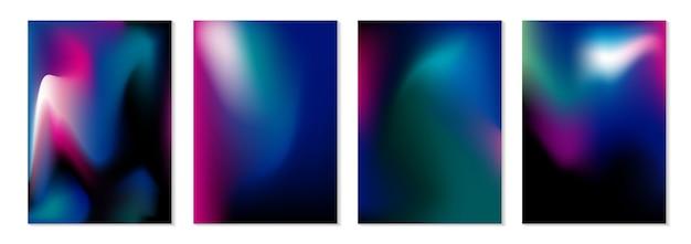 Fundo de fluxo de cor abstrata Vetor Premium