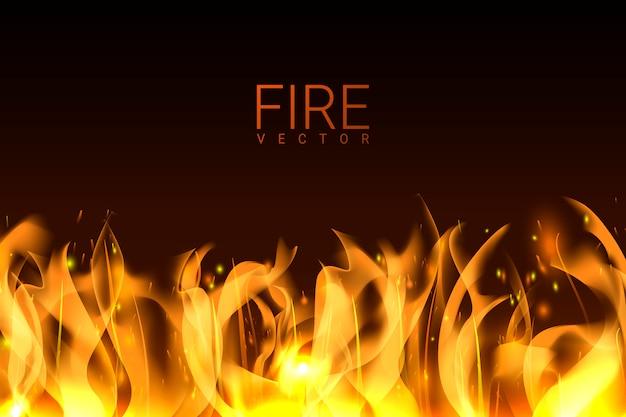 Fundo de fogo ardente Vetor grátis