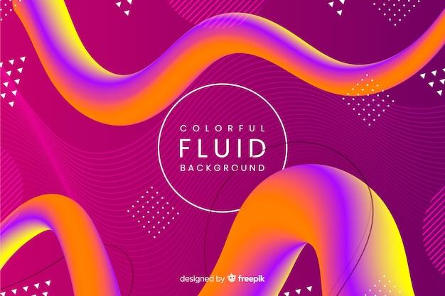 Fundo de forma 3d fluido colorido Vetor grátis