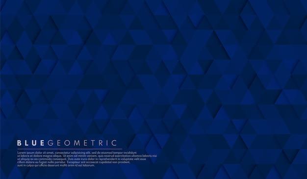 Fundo de forma geométrica abstrata do hexágono do azul marinho escuro. Vetor Premium