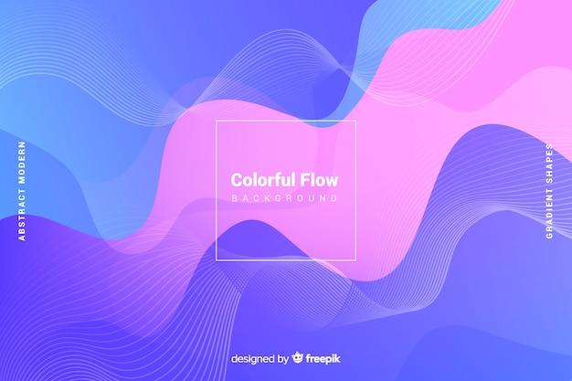 Fundo de formas de fluxo colorido abstrato Vetor grátis