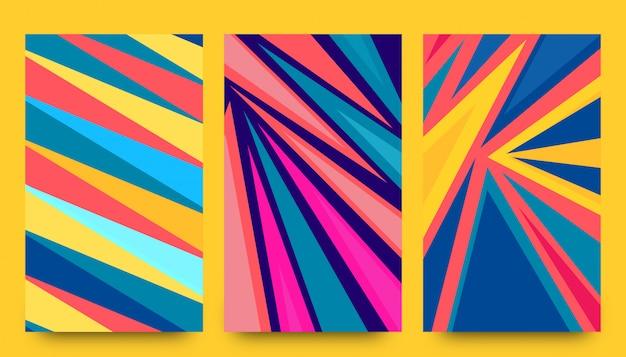 Fundo de formas de foguete de papel abstrato Vetor Premium
