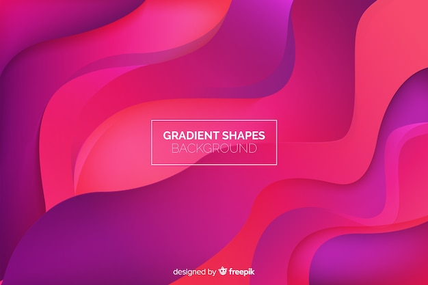 Fundo de formas fluidas geométricas Vetor grátis