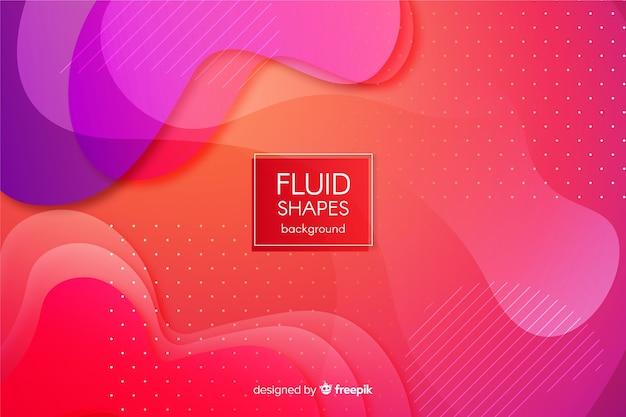 Fundo de formas fluidas gradiente colorido Vetor grátis