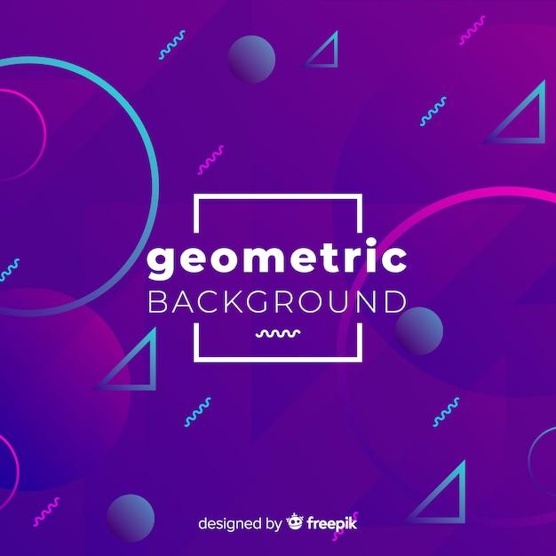 Fundo de formas geométricas abstratas Vetor grátis