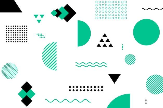 Fundo de formas geométricas planas Vetor grátis