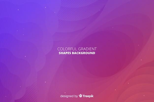 Fundo de formas gradientes dinâmicas Vetor grátis