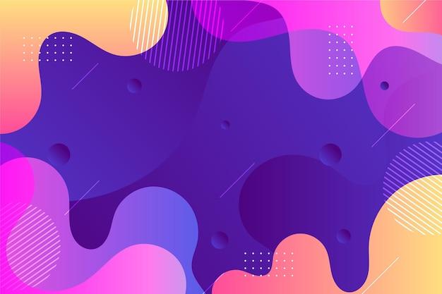 Fundo de formas onduladas abstratas Vetor grátis