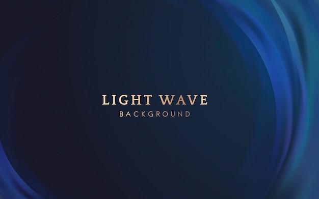 Fundo de fronteira de onda de luz Vetor grátis