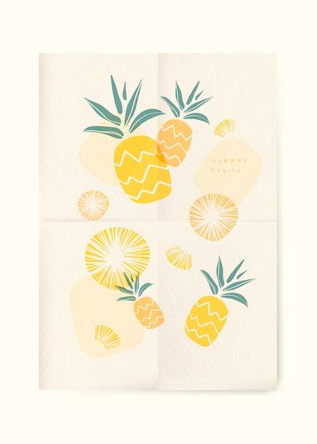 Fundo de frutas de verão Vetor grátis