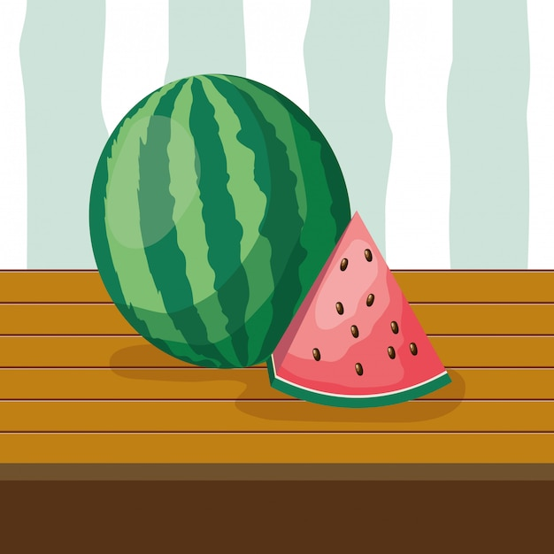 Fundo de frutas tropicais Vetor grátis