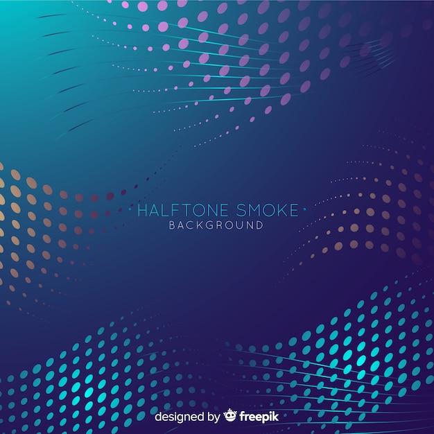 Fundo de fumaça de meio-tom colorido Vetor grátis