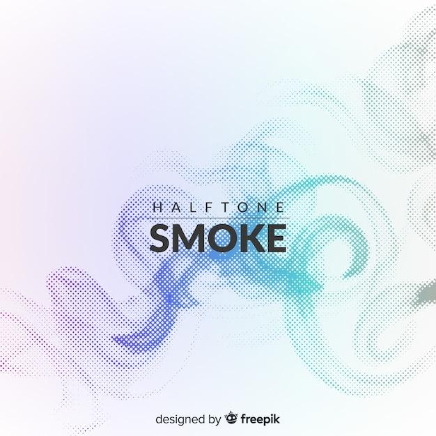 Fundo de fumaça de meio-tom gradiente Vetor grátis