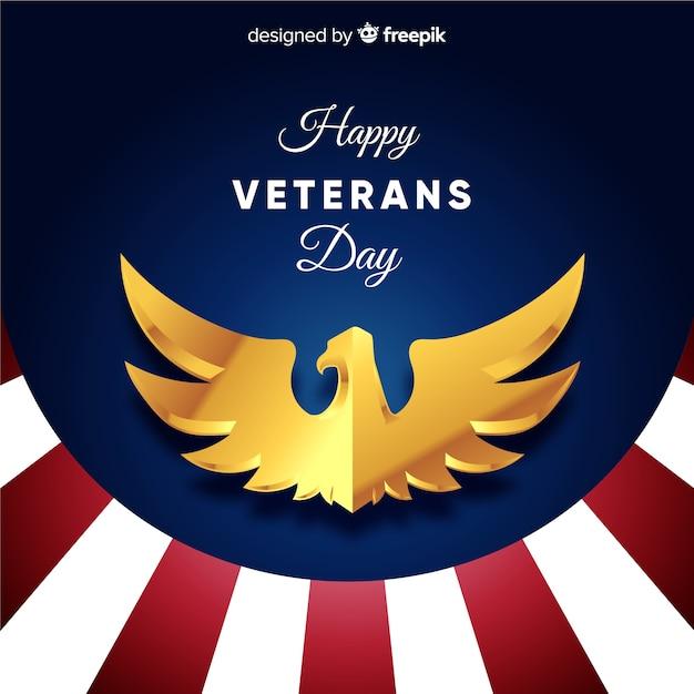 Fundo de fundo listrado de dia dos veteranos Vetor Premium
