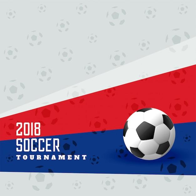 Fundo de futebol de copa de futebol de 2018 Vetor Premium
