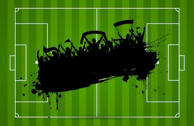 Fundo de futebol ou futebol Vetor grátis