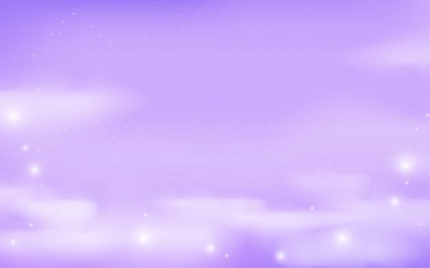 Fundo de galáxia de fantasia em cores lilás Vetor Premium