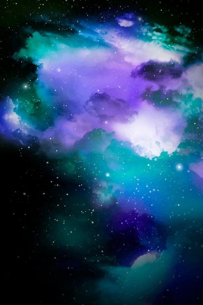 Fundo de galáxia espacial Vetor grátis