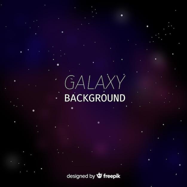 Fundo de galáxia moderna com estilo colorido Vetor grátis