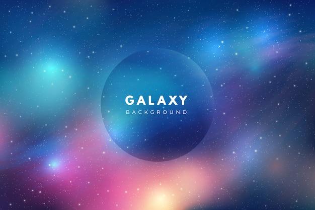 Fundo de galáxia multicolor Vetor grátis