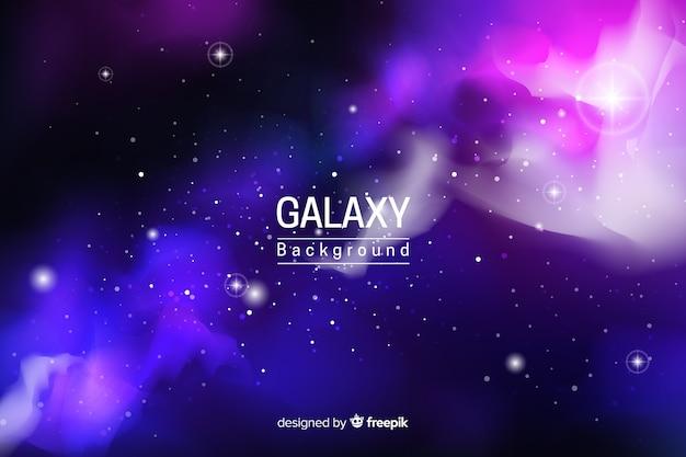 Fundo de galáxia neon abstrata Vetor grátis