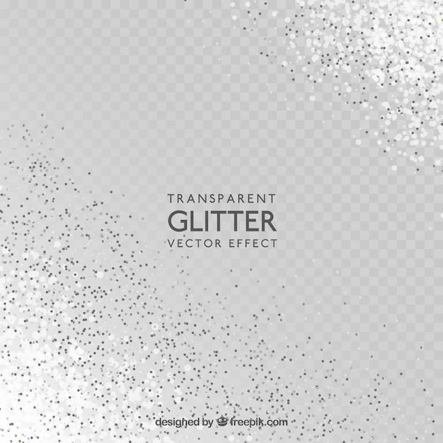 Fundo de glitter transparente Vetor Premium