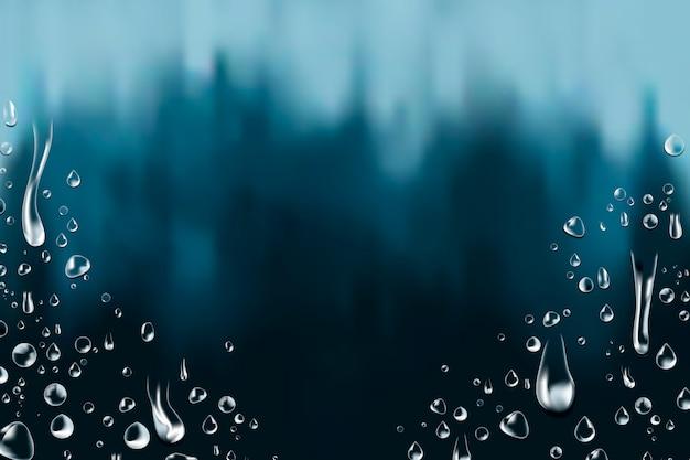Fundo de gotas de água Vetor grátis
